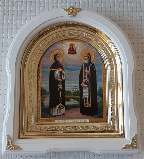 Икона для дома Святые Петр и Феврония 26х29см