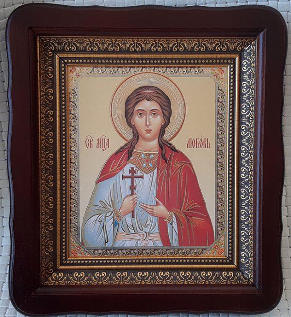 Икона Святая мученица Любовь Римская для дома 23*26cm