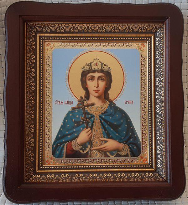 Икона Святая великомученица Ирина для дома 23*26cm