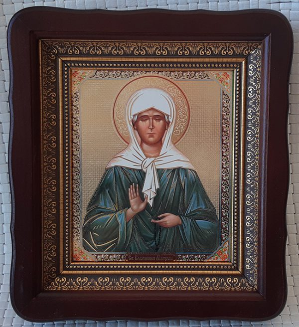 Икона Святая Матрона для дома 23*26cm