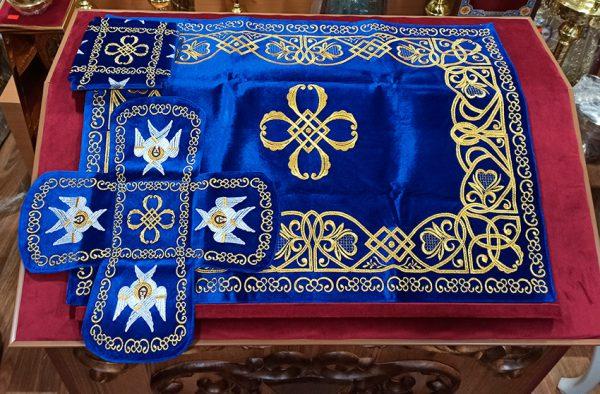 Покровцы с воздухом комплект (синий бархат)