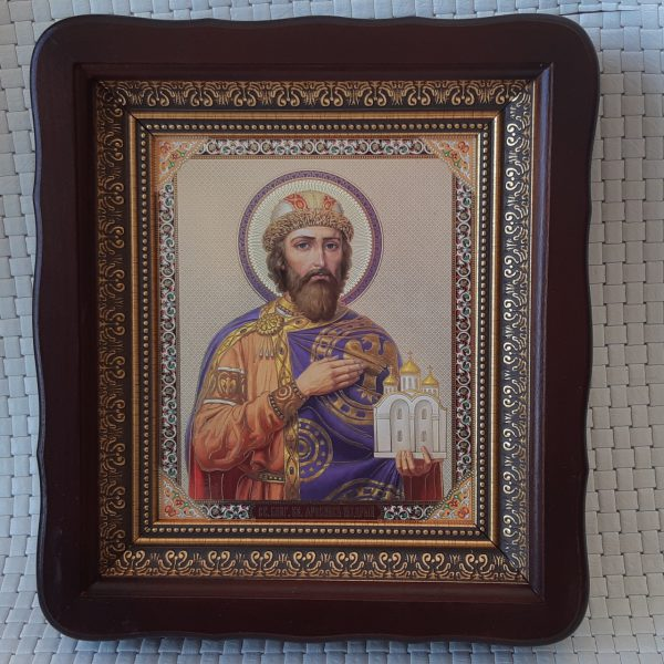 Икона князя Ярослава Мудрого для дома 23*26см
