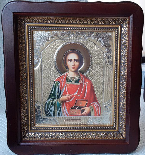 Икона Святого Пантелеймона целителя для дома 23*26см
