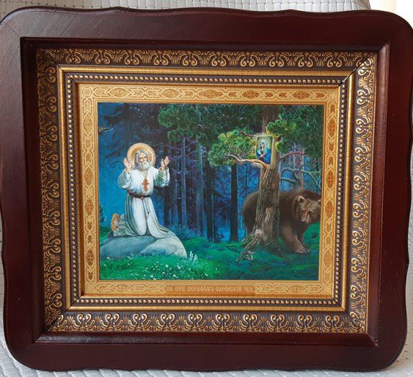 Икона Святого Серафима Саровского для дома 26*23см