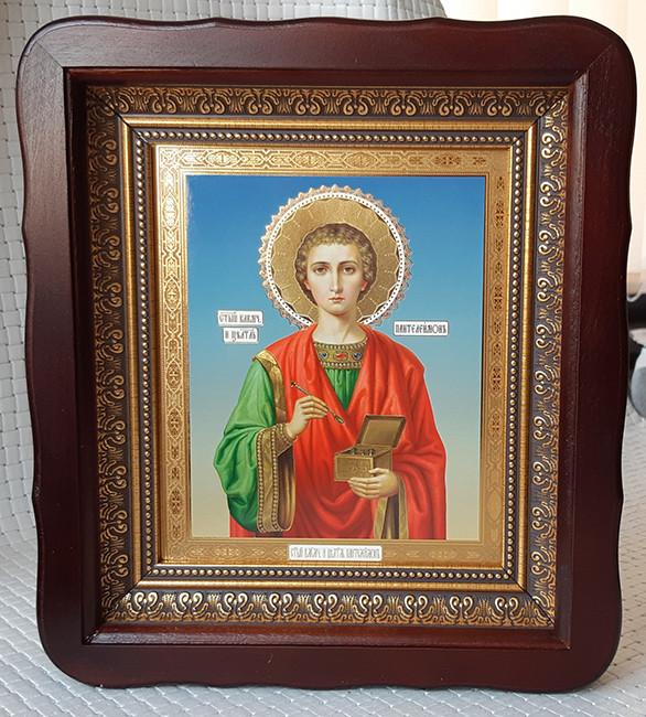 Икона праведника Пантелеймона целителя для дома 26*23см