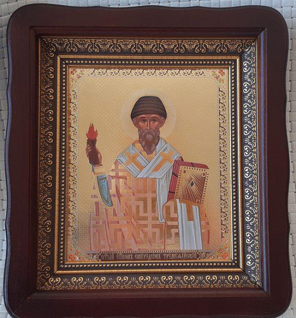 Икона Святитель Спиридон Тримифунтский на подарок или для дома 23*26см