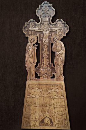 Голгофа из дерева церковная 2.5м (дерево бук)