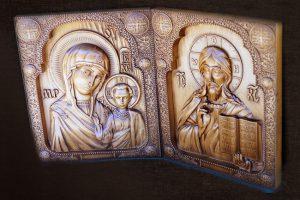 Резные иконы Венчальная Пара на подарок