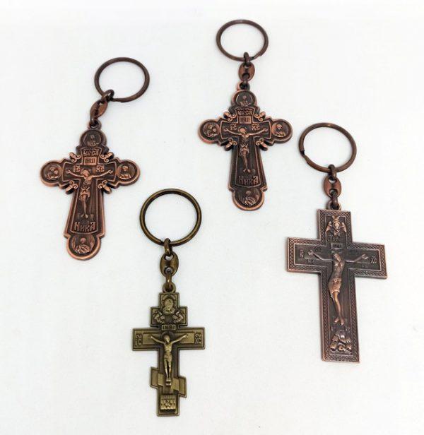 Крестик - брелок для ключей из металла
