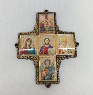 Икона Крест Спаси и Сохрани в автомобиль 10х8см