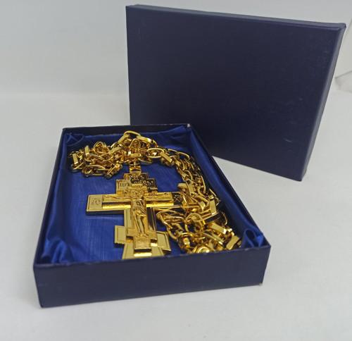 Крест с золочением 10х6см