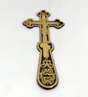 Крест погребальный (пластик) 13х6см