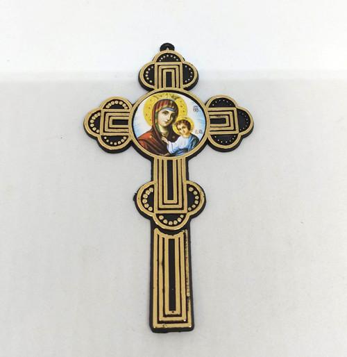Крест погребальный (пластик) 12х7см
