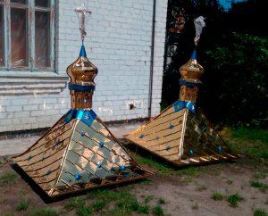 Крыша с куполком из булата для колодца 1