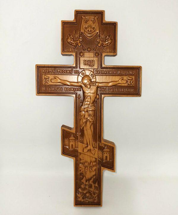 Крест квадратный 30*16cm резной бук