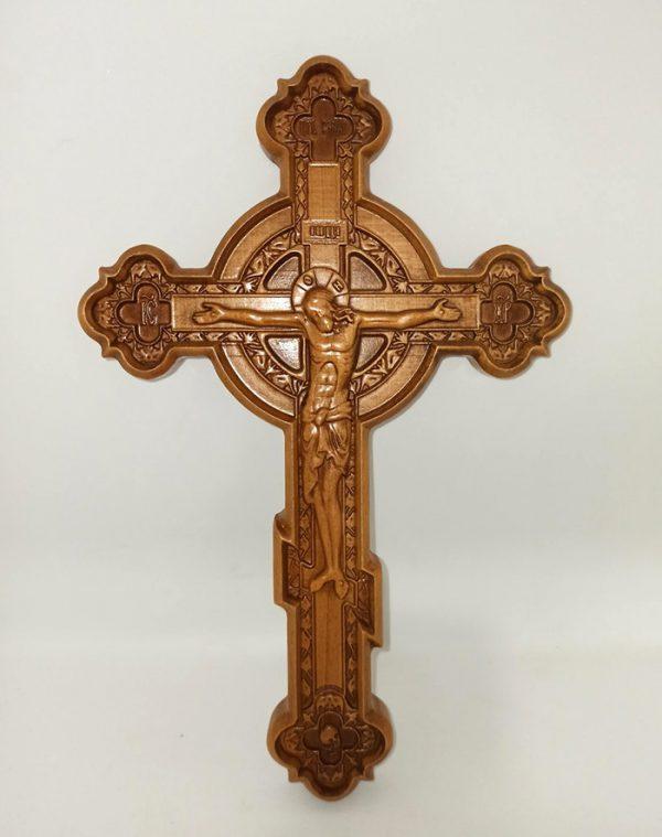Резной Крест с кругом 28.5х18.5см из бука