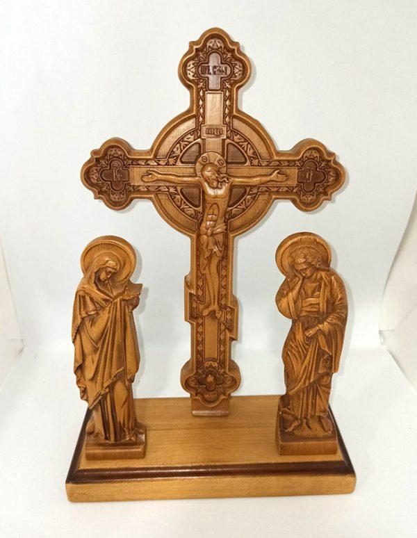 Крест Голгофа из бука настольная 29х18.5см