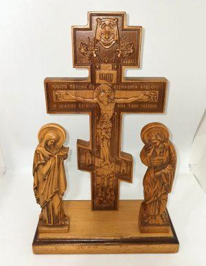 Крест Голгофа из бука настольная 30х16см