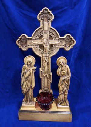 Резной Крест Голгофа церковная 44х27см из бука