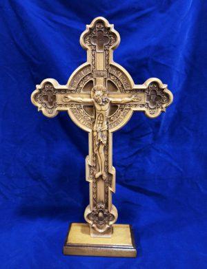 Крест резной церковный 43.5*26см (из бука)