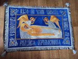 Плащаница Богородицы с Ангелами 95*60см