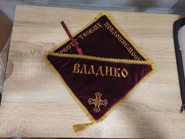 Подушка с вышивкой под крест