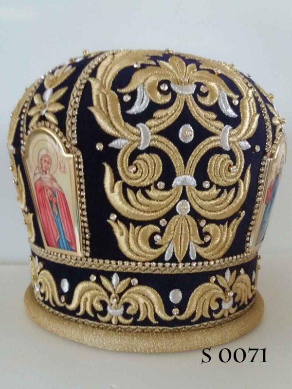 Выбрать митру в каталоге головных уборов священников
