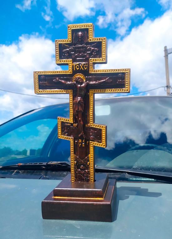 Православный резной Крест 33х17см на подставке
