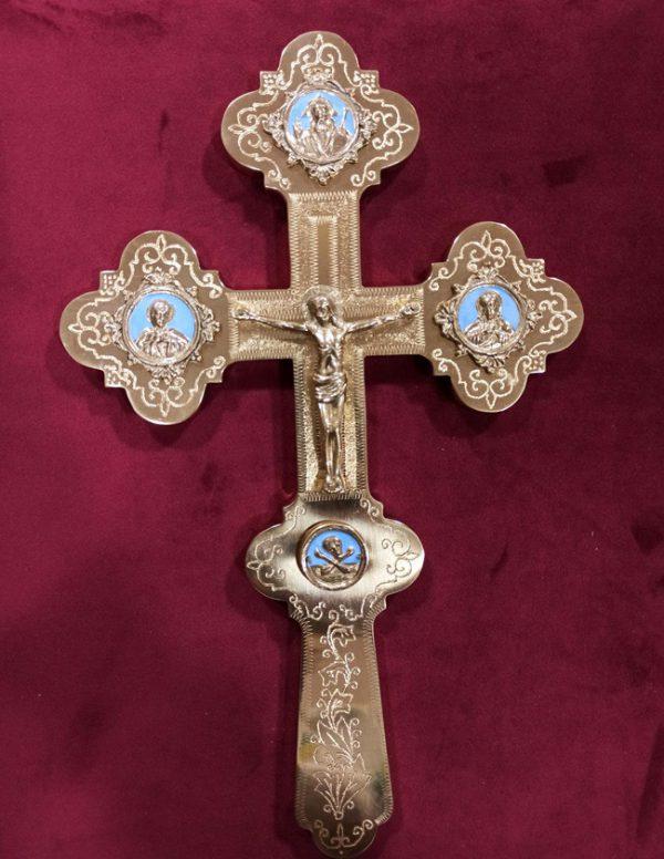 Латунный крест служебный 31.5х20см