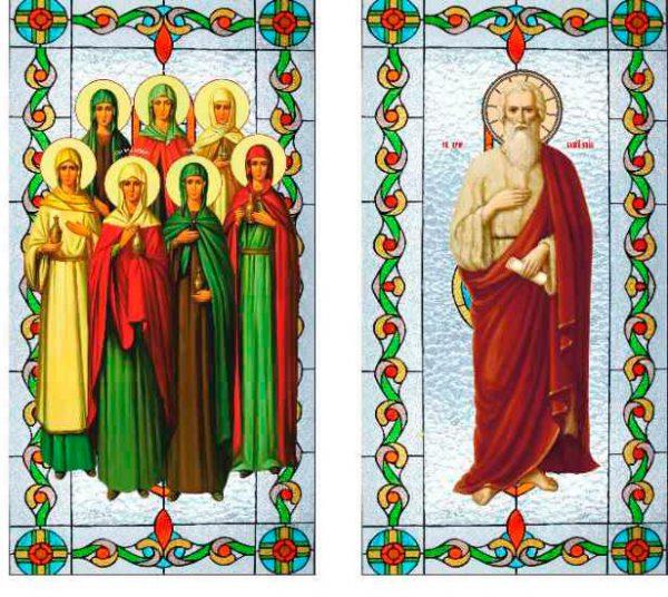 Церковные Витражи на заказ на оракале (эксклюзивные макеты)