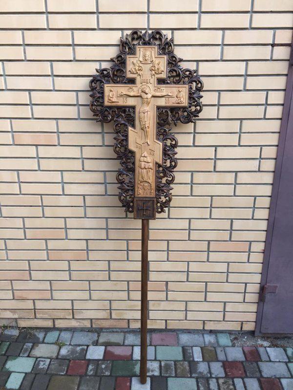 Крест-распятие 100х60см