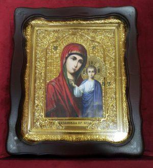Казанская икона Божией Матери 35х30см