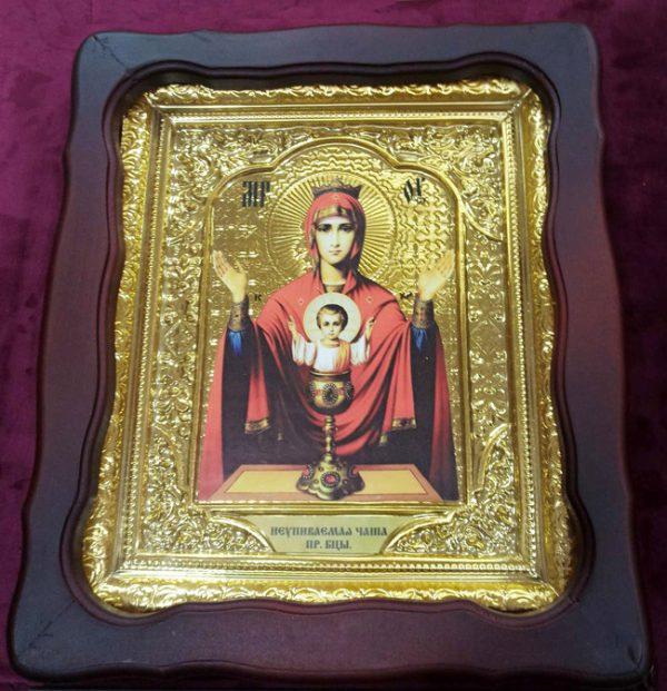 Икона церковная Божьей Матери «Неупиваемая Чаша» 35х30см