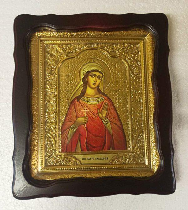Икона Святой мученицы Палагеи 35х30см