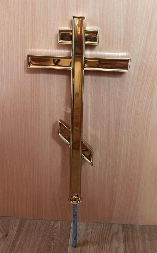 Прямые малые кресты для храмов и часовен из булата 40см