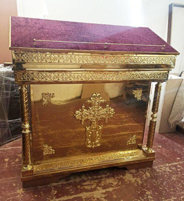 Аналой/гробница модульная с чеканкой и крестом 120х60см