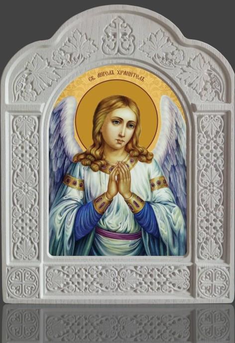 Ікона Ангела Охоронця в новому кіоті з ясена 28х22см