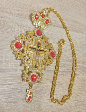 Крест наградный с камнями для священника