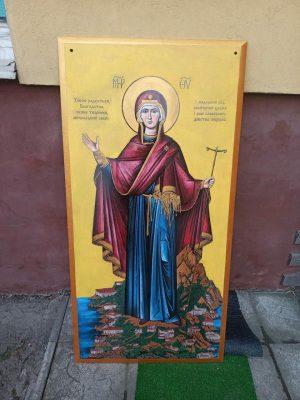Икона на камне для фасада Храма