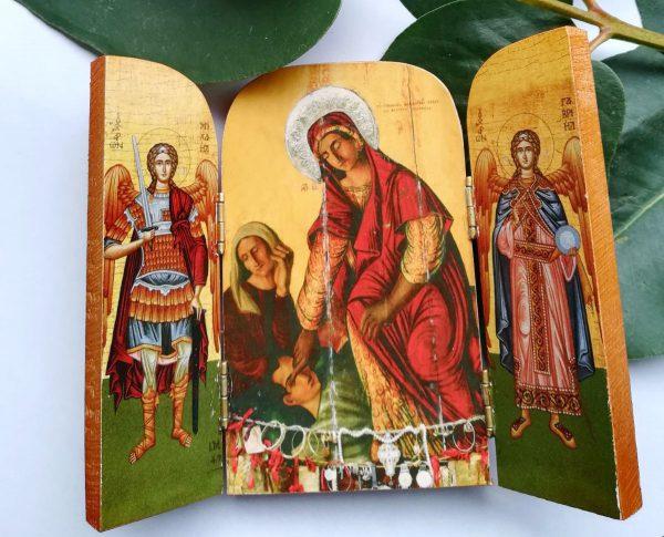 Икона Пресвятой Богородицы Кассопитры (триптих)