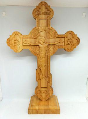 Резной Крест церковный 37х27см из ольхи/груши