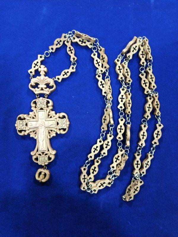 Прорезной Крест фигурный для священника 16х7