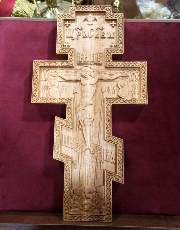 Православный резной  широкий Крест 42х23х3см