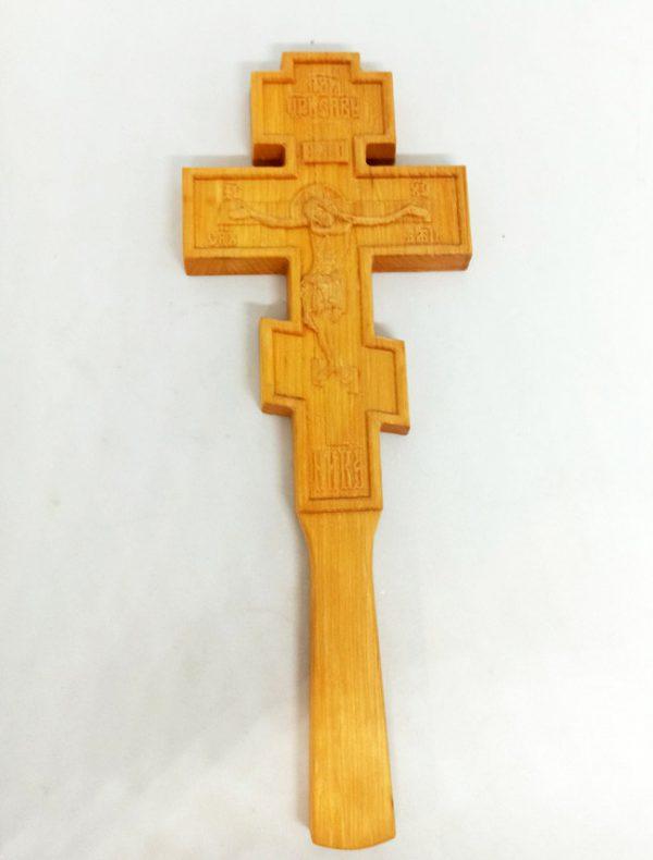 Резной церковный Крест для священника 27х10см из ольхи