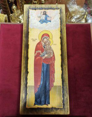 Икона на крещение / Мерная икона на заказ Святой Анны