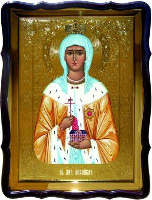 Икона Святая Александра поясная