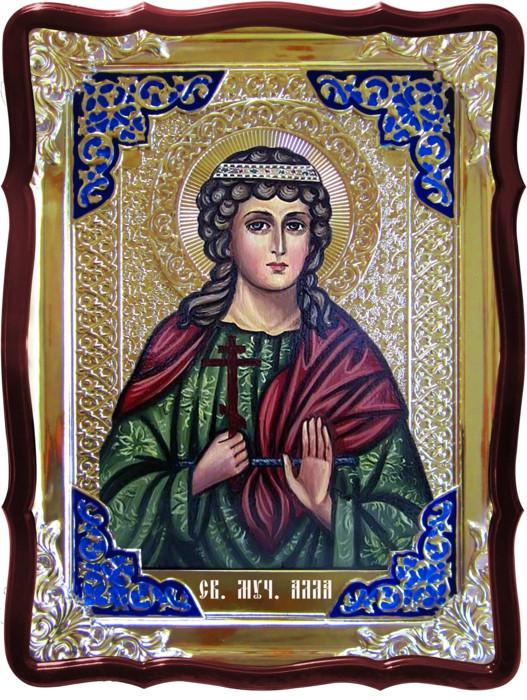 Икона в ризе - Святая мученица Алла в православном магазине