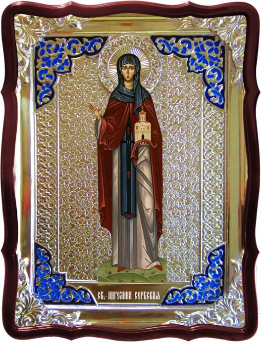 Икона в ризе - Святая мученица Ангелина Сербская в православном магазине