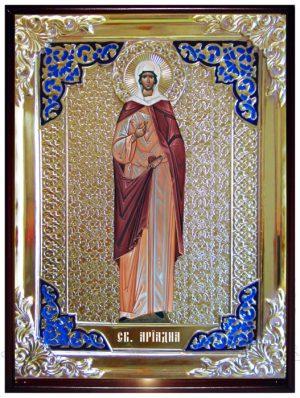 Икона в ризе - Святая мученица Ариадна в православном интернет магазине