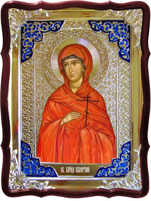 Икона в ризе - Святая мученица Валентина 80х60см в православном магазине